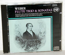 CD WEBER - Flute Trio & Sonatas - Preston / Burnett / Clarke