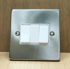 Click Deco Victorian Satin Chrome 10AX 3 Gang 2 Way Light Switch VPSC013WH (3)