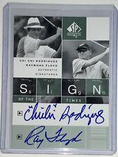 2002 Upper Deck SP Authentic Chi Chi Rodriguez Raymond Floyd Autograph SOTT