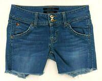 HUDSON Women's Cut-off Triangle Pocket Denim Jeans Shorts - Size 25