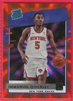 2020-21 Donruss Immanuel Quickley Orange Laser Rookie #213  New York Knicks