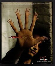 Original  2005 Verizon Broadband Domination 5 Hands Print Ad