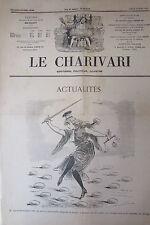 SATIRIQUE PAMPHLET POLITIQUE LE CHARIVARI de 1907 JUSTICE DANSANT SUR DES OEUFS