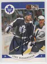 Autographed 90/91 Pro Set Luke Richardson - Maple Leafs