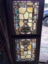 Sg 192 Double Hung Rudy  Brothers Stainglass Window As Found