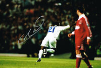RARE LIVERPOOL GOAL TONY YEBOAH SIGNED PHOTO AUTOGRAPH COA LEEDS UNITED UTD 2
