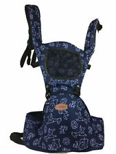 Aiebao New Design Baby Child Carrier Sling Holder Safari Print Blue 6-36 Months