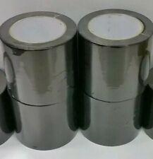 4 Rolls 75mm 18m Silage BLACK Tape Agricultural Bale Agri Bag Repair Farmers PVC