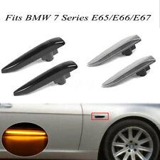 2x LED Side Fender Indicator Repeater Light Lamp For BMW 7 Series E65/E66/E67/E