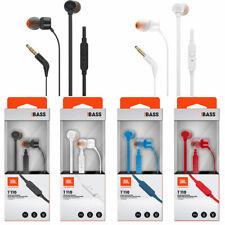 JBL T110 original In-Ear Ohrhörer Kopfhörer Headset 3,5mm kabelgebunden