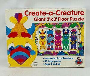 Create-A-Creature Giant Floor Puzzle 40 Piece 2'x3' Frank Schaffer 1992 Complete