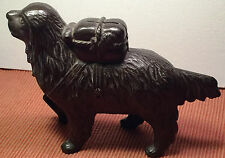 Vintage A.C. Williams 1910 St. Bernard and Pack Cast Iron Bank