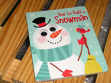 """Snowman Book """"How to Build a Snowman"""" with moving eyes. NEW. GREAT GIFT"""