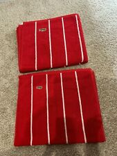 New with store tags Lacoste cotton towel set, Red, bath and hand
