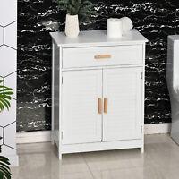 kleankin Bathroom Cabinet Storage Cupboard Double Door Toilet Cabinet Organizer