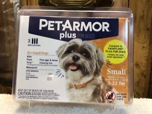 Pet Armor Plus For Small Dogs 5-22 LBS. (3 Applications)