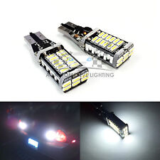 2x T15 921 XENON White 15W SMD 4014 CANBUS LED Bulbs 9-30V Back up Reverse Light