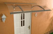 Alu Haustürvordach Swing silber 160 x 87 cm mit 4 mm Acrylglas Eindeckung