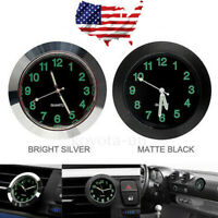 Car Mini Luminous Auto Air Vent Clip Clock Interior Quartz Analog Watch Decor KY