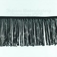 "15cm (6"") Black Dress Fringing / Looped Fringe Trim - 15 metres"