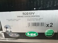 REAR BRAKE DISCS FOR BMW series 1 + 3 B2018V Pair