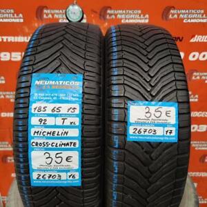 2 x 185 65 R 15 92T XL 5mm + 5mm DOT 16/17 Michelin Cross Climate M+S Ref. 26703