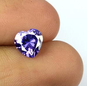 Purple Sapphire Natural 2.10 Ct Heart Shape Gemstone Certified Valentine's Sale