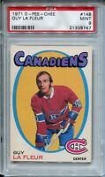 1971 OPC Hockey #148 Guy LaFleur La Fleur Rookie Card RC Graded PSA MINT 9