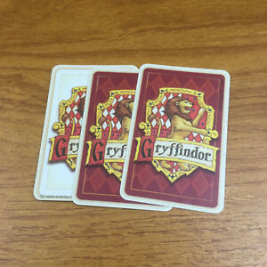 Harry Potter & The Philosophers Stone Trivia Game 3 Gryffindor Cards Spare Parts