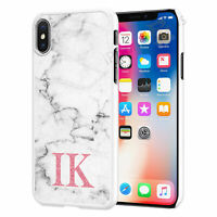 Personalised Marble Initials Phone Case Cover For iPhone Samsung Huawei RS069-8