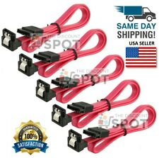 "5x 18"" SATA 3.0 Cable SATA3 III 6GB/s Right Angle 90 Degree SSD HDD Hard Drive R"