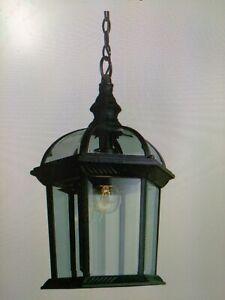 """Trans Globe Lighting 4183 BK Outdoor Wentworth 13.5"""" Hanging Lantern, BLACK(#48"""