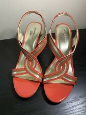 Anne Klein IFLEX Women Shoes Heels 10M Wedge Heel , Slingback Leather