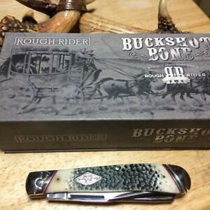 "Rough Rider Buckshot Bone Trapper 4 1/8"" Pocket Knife  RR1544"