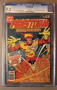 FIRESTORM #1 ORIGIN 1st App CW TV Arrow Flash LEGENDS TOMORROW 1978 CGC NM- 9.2