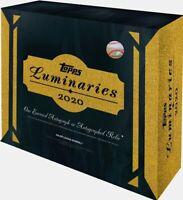 2020 TOPPS LUMINARIES BASEBALL - FACTORY SEALED HOBBY BOX - CONFIRMED