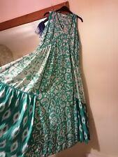 Monsoon Beach green Maxi dress size 12/14/16