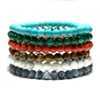 6mm Natural Stone Bracelets Fashion Charm Yoga Meditation Buddha Braclet Jewelry