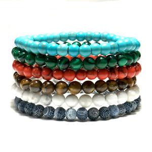 6mm Natural Stone Bracelets Fashion Charm Yoga Meditation Buddha Braclet Jewelry
