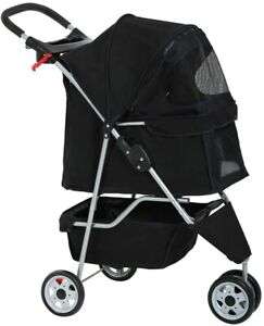 Dog Stroller Pet Stroller Cat Stroller for Medium Small Dogs Foldable Travel 3