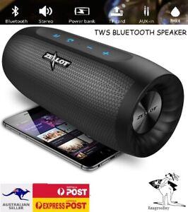 Bluetooth Speaker Portable Wireless Waterproof Super Bass Power Bank TWS