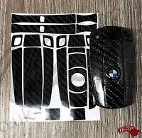 BLACK CARBON Fiber GLOSS Key Sticker Decal BMW E SERIES 1 3 5 6 Z4 X1 3 5 X6 M