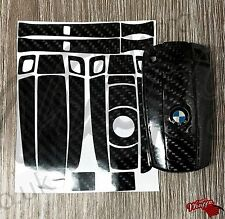 BLACK CARBON Fiber GLOSS Key Sticker Decal BMW E SERIES 1 3 5 6 Z4 X1 3 5 X6 M