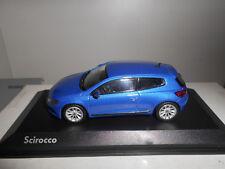 VOLKSWAGEN SCIROCCO 3 BLUE NOREV VW DEALER 1:43