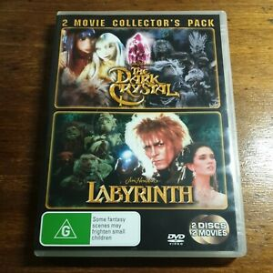 The Dark Crystal + Labyrinth 2 Movie Collectors Pack DVD R4 Like New! FREE POST