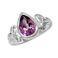 Sterling Silver Quality Amethyst Dress Ring LARGE SIZES