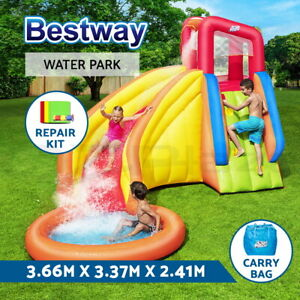 Bestway Inflatable Water Slide Park Jumping Castle Splash Toy Pool Playground