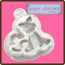 Katy Sue Designs SUGAR BUTTONS CAT Cake Crafting Mould CSB018 body 55mm x 45 mm