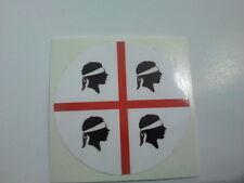 Adesivo Rotondo 4 mori Sardegna Souvenir Sticker  Bandiera Flag