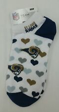NFL Team Apparel  St. Louis Rams Heart  White 501 Socks Size Women's Medium